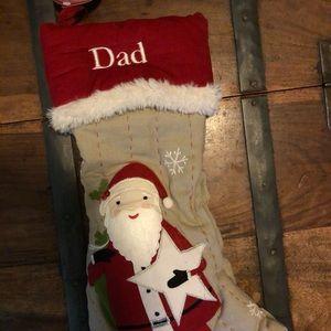 NWT Pottery Barn Woodland Santa Stocking